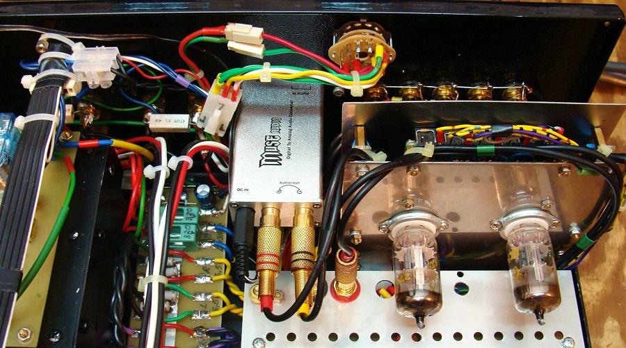 5. Płytka układu wejściowego 2 X ECC82 wraz selektorem wejść..JPG