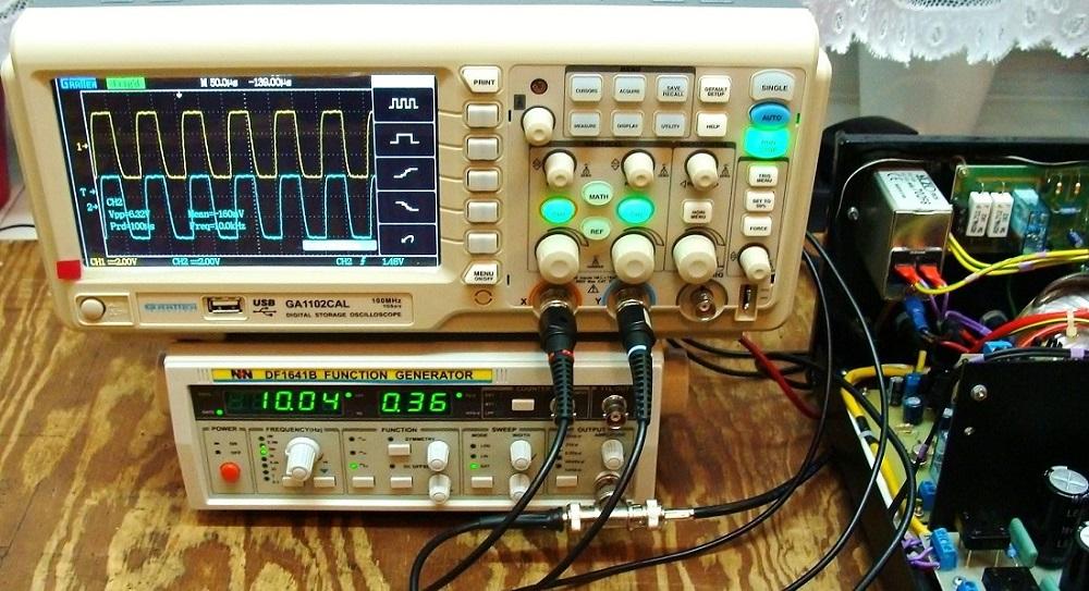 Stabilność przy 10 KHz Vpp 6,32V 8 - ohm w trybie Triody..JPG